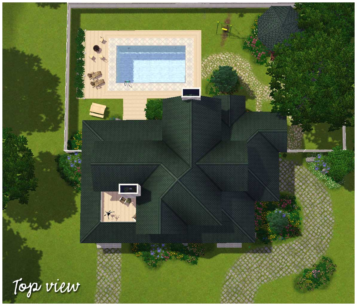 Mod the sims country family house for The view house