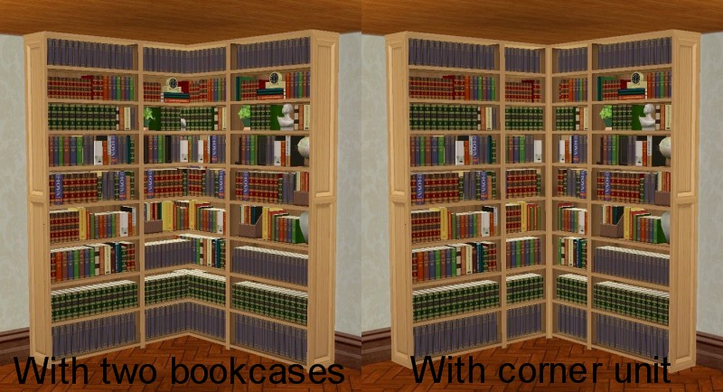 Like The Dahlen Library Bookcase Corner Unit Takes Textures And All Recolors Off Base Craftmeister But You Need University To