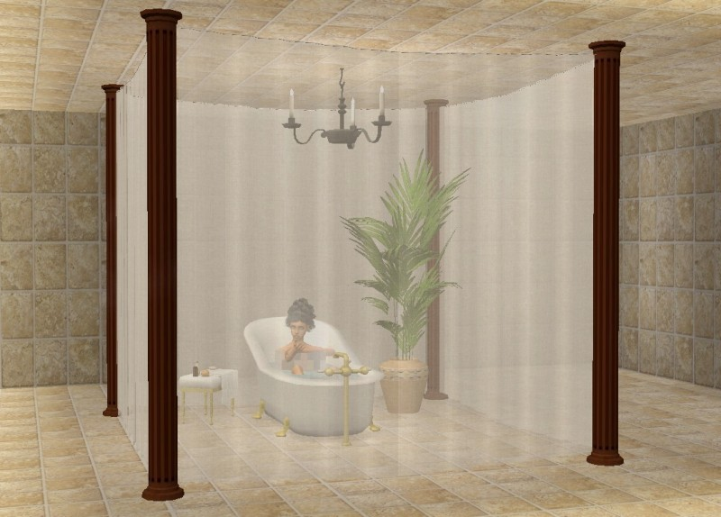 Mod The Sims Privacy Veil For Beds Bathtubs And Much More