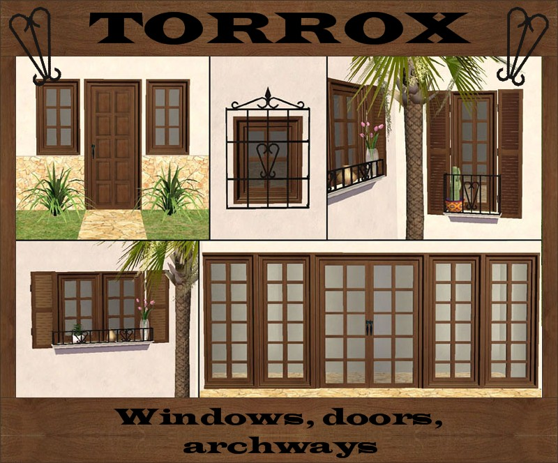 This is Part 2 of the Torrox Spanish/Southwestern Build Set \u2013 Windows doors and archways : spanish doors - Pezcame.Com