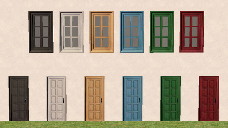 Mod the sims torrox spanish southwestern build set part for The door and the window
