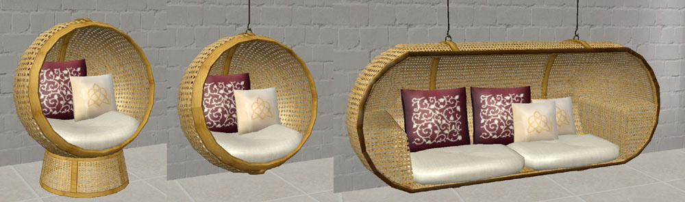 Mod The Sims Js Round Chair And Bonnie S Loveseat