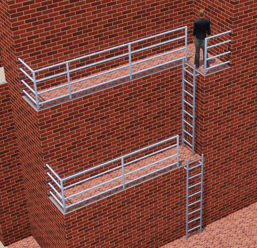 Mod The Sims Industrial Ladder Now Also Stackable