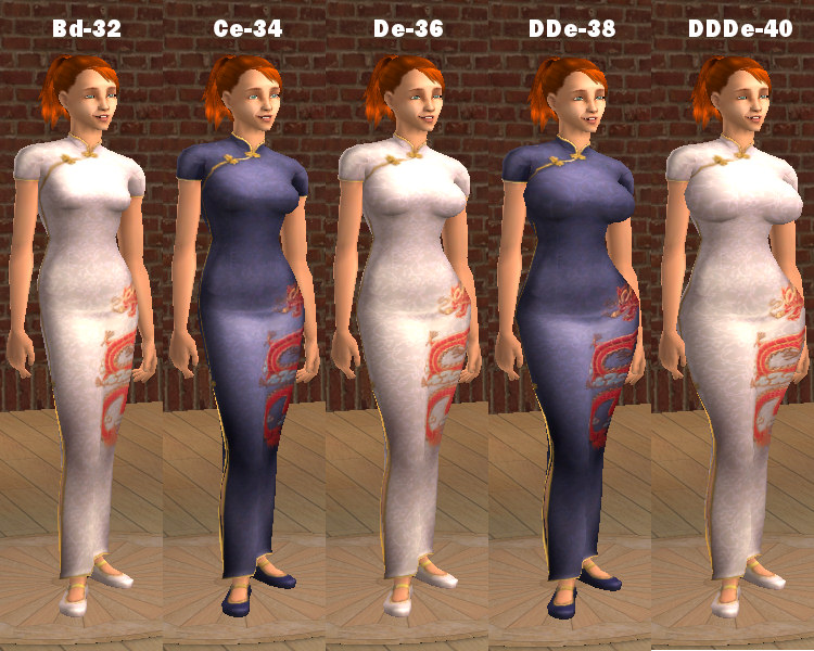 Mod The Sims - Updated Maxis Chinese Dresses in Warlokk ...