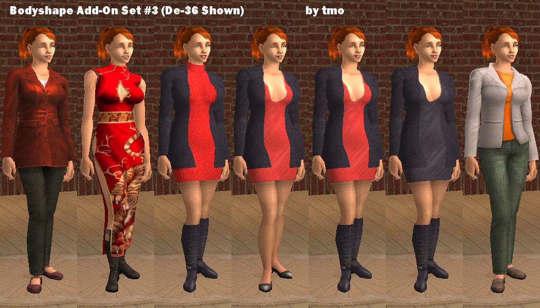 Mod The Sims - Warlokk Bodyshape 34D Full-Body Add-On MESH ...