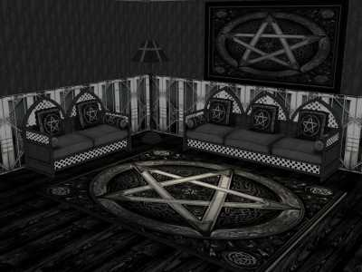 gothic living room simple mod the sims dark living room