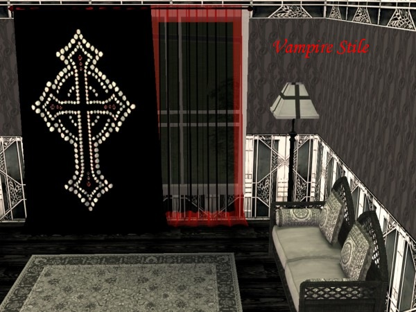 The Black curtains for gothic sims