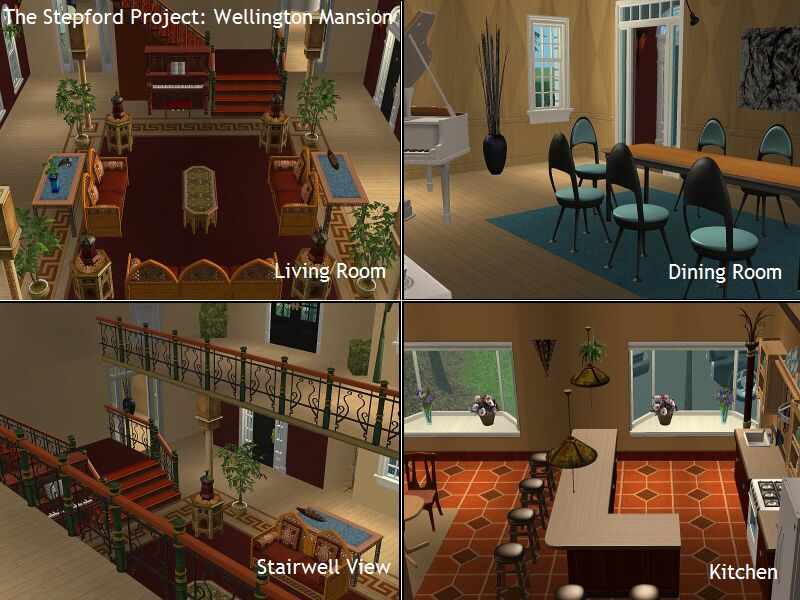Mod The Sims The Stepford Project I 2 Mansions By D D I