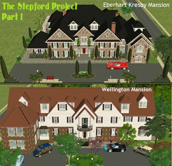 Mod the sims the stepford project i 2 mansions by d d i for Mansion floor plans sims 4