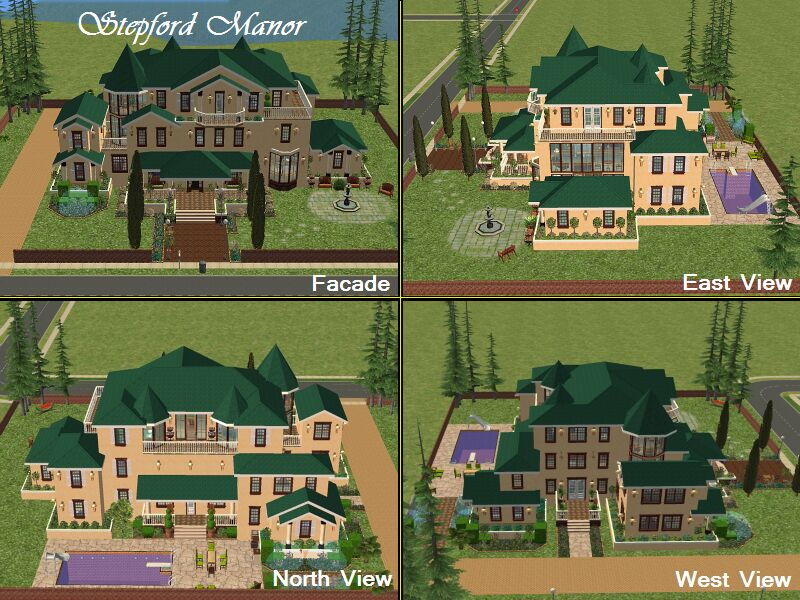 how to build a sims 3 mansion step by step