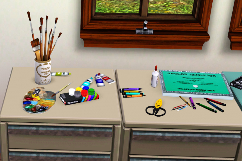 Mod The Sims Artsy Fartsy Clutter