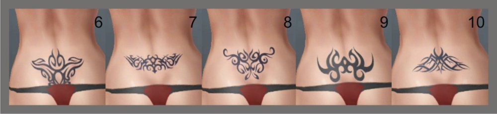 35c570cc6 Mod The Sims - 15 Tramp Stamps/ Recolorable Lower Back Tattoos For ...