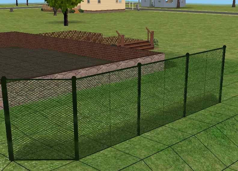 Mod The Sims Tall Wirenetting Fence Added The Gate