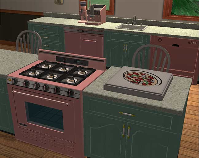Mod The Sims My Version Of The Salmon Pink Kitchen