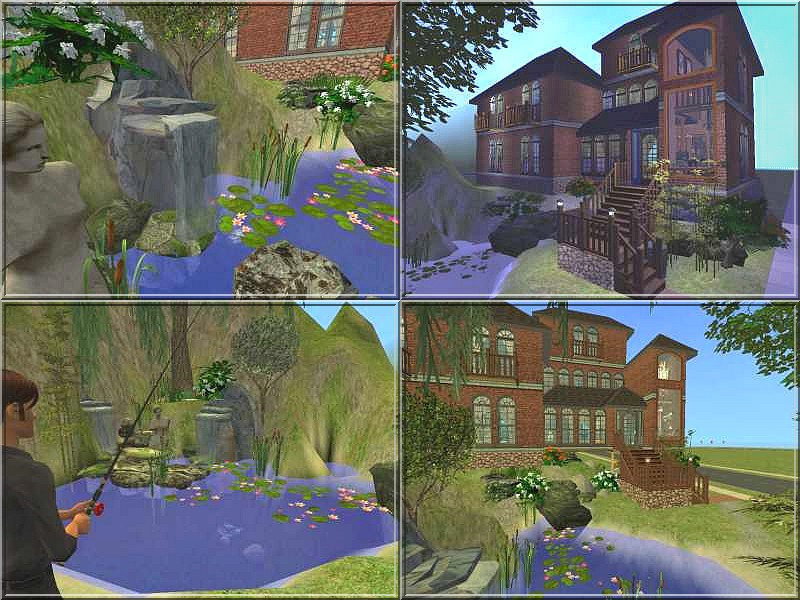 Mod the sims the drowned lady old house by lamammaforever for Classic house sims 4