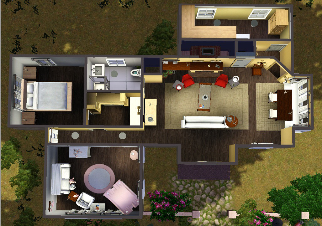 Mod the sims cottage edward bella breaking dawn part 2 for Twilight house floor plan