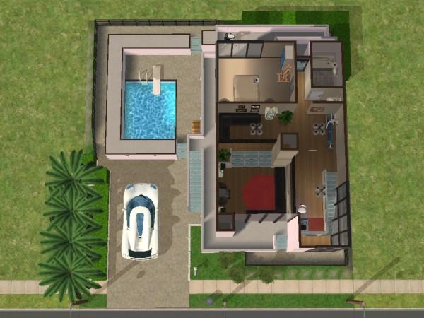 mod the sims rumah modern tropis 2
