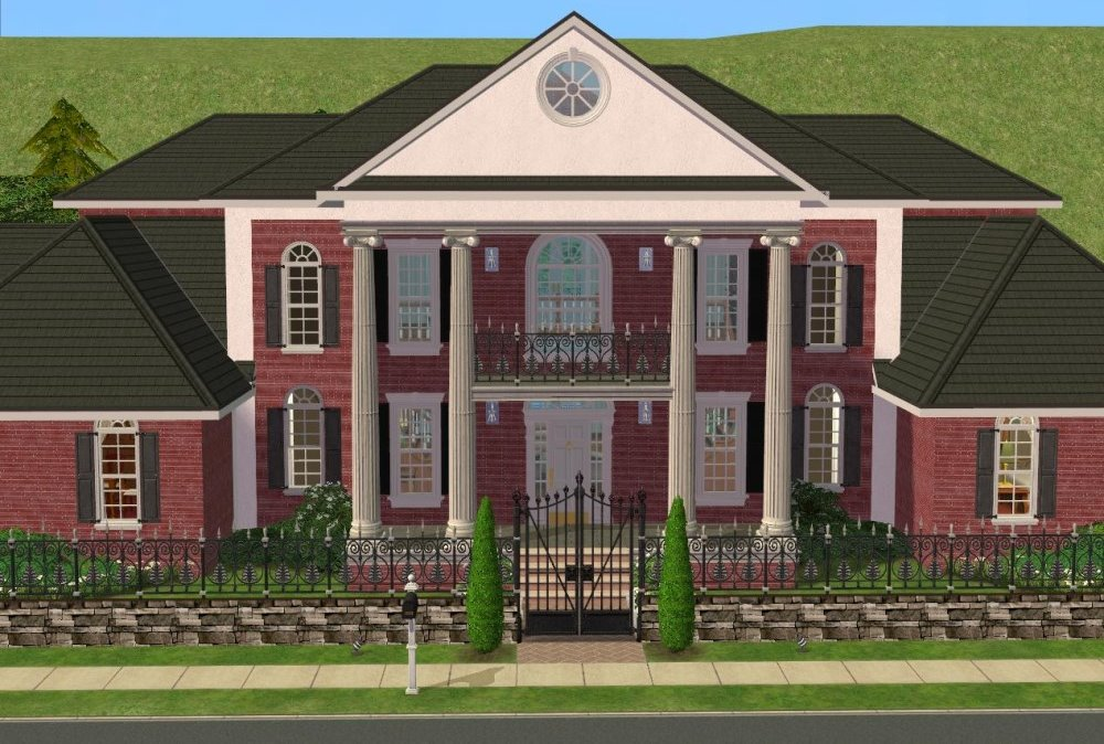 Mod the sims large traditional colonial southern style 4 for Home styles com
