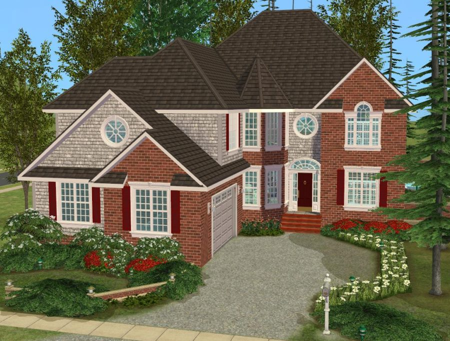 Mod the sims 5 bedroom european style house for 2 bedroom homes to build