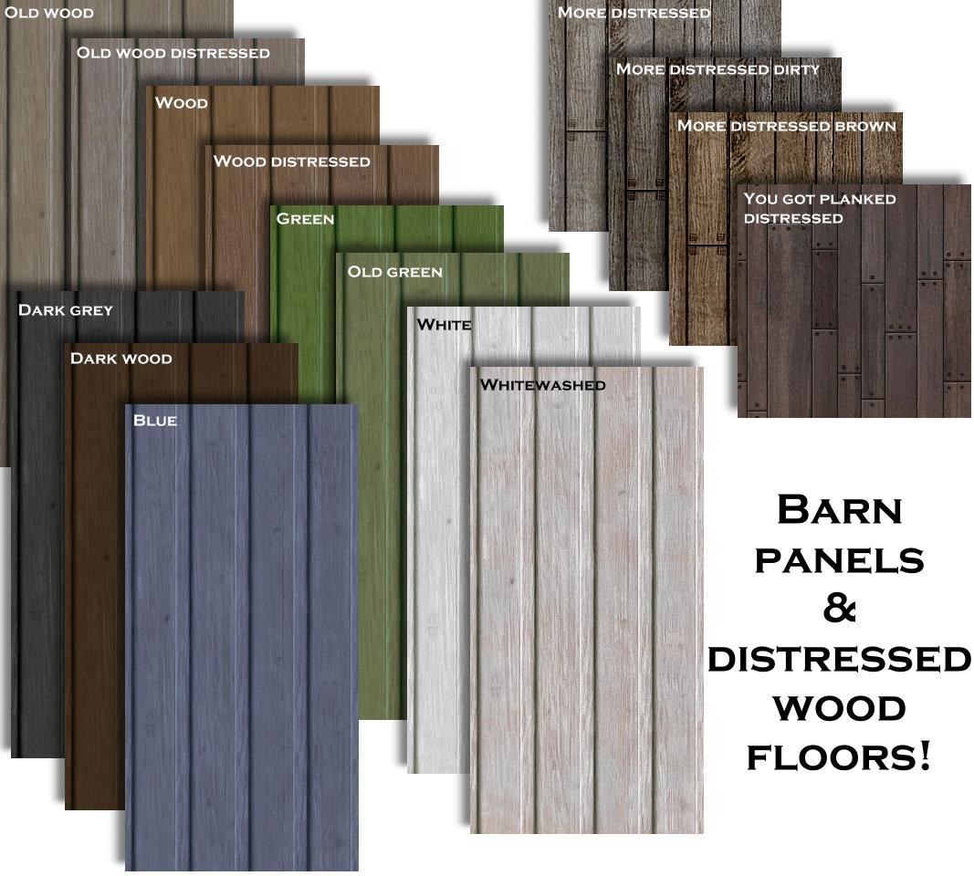 Mod The Sims 11 Wood Panels Amp 4 Distressed Wood Floors