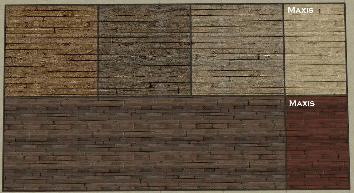 Mod The Sims 11 Wood Panels 4 Distressed Wood Floors