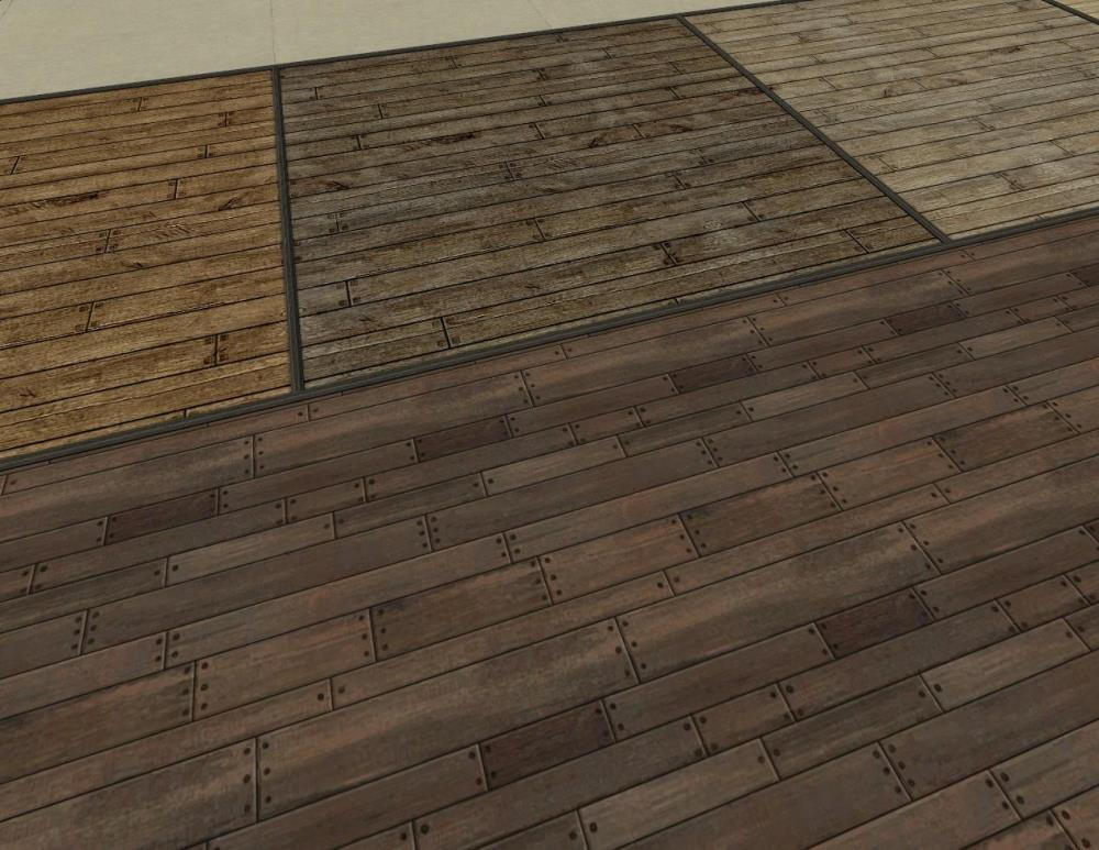 Mod the sims 11 wood panels 4 distressed wood floors for Hardwood floor panels