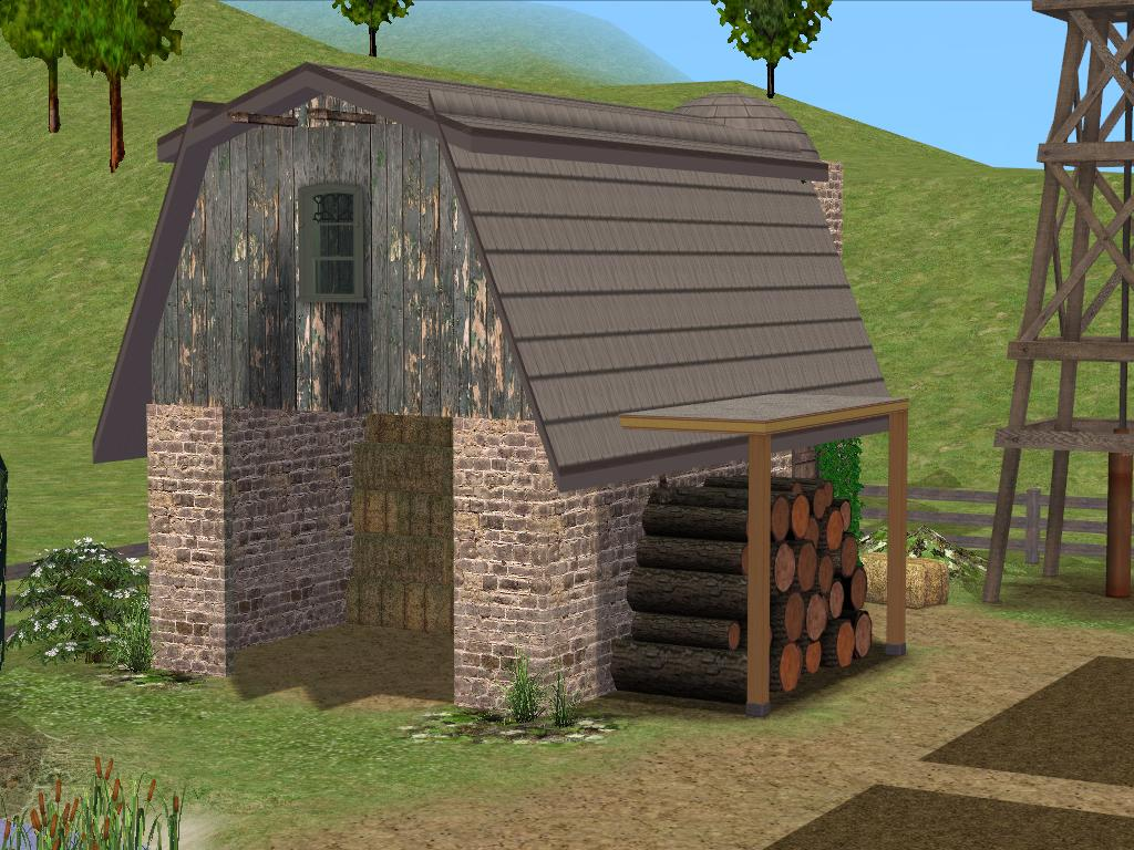 Mod The Sims Old Rustic Farmhouse For 4 Sims Seasons