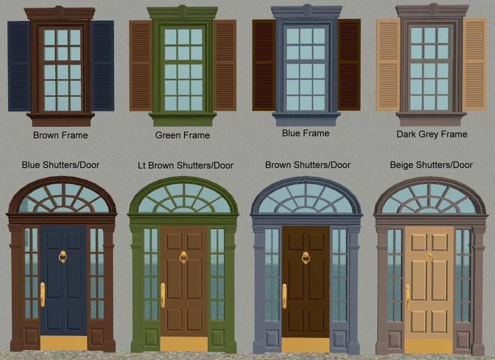 Mod the sims set of recolours for phoenix phaerie 39 s for Window design 4 4