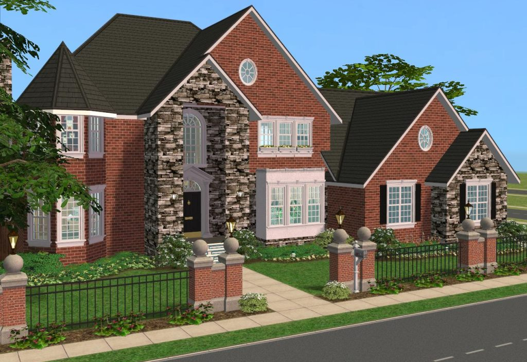 Mod the sims 4 bedroom 39 new american 39 style home for Sims 3 6 bedroom house