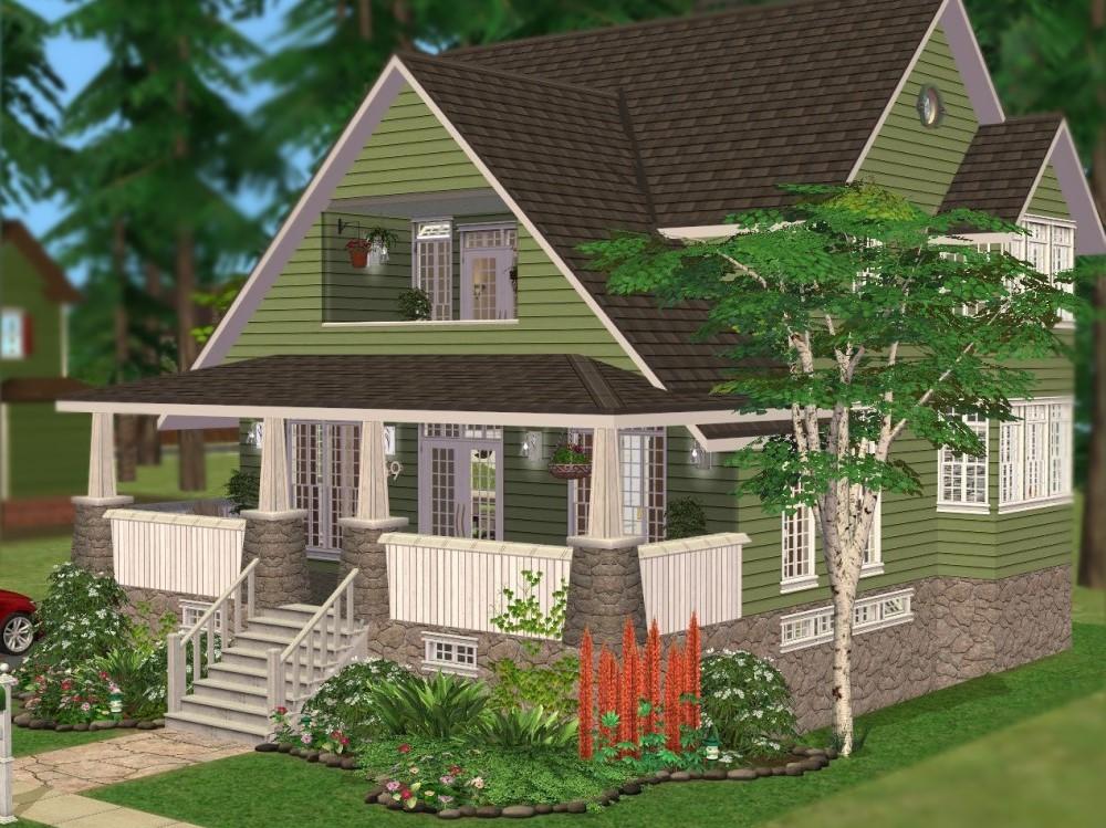Mod The Sims 759 Aparagus Avenue A Green Craftsman Home