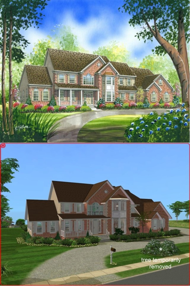 Mod The Sims 4 Bedroom Colonial Style House