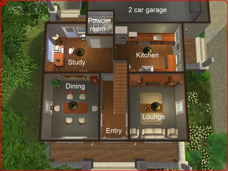 Mod The Sims 2 Bedroom Craftsman Bungalow Style Home