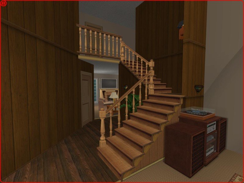 Mod the sims 3 bedroom country traditional craftsman for Sims 3 6 bedroom house