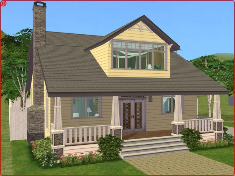 Mod The Sims 2 Bedroom Lemon CraftsmanBungalow