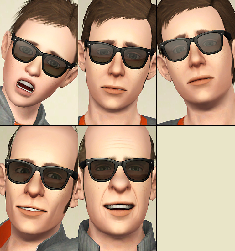Mod The Sims Quot Wayfarer Quot Like Eyeglasses