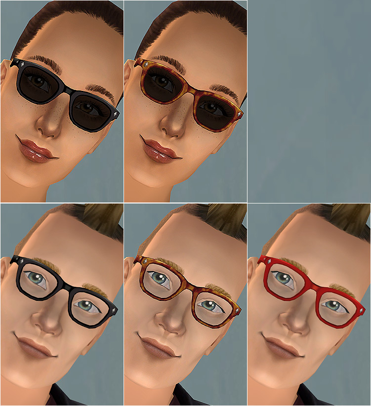 50998123273a Mod The Sims - Buddy Holly-ish Eyeglasses - New Mesh
