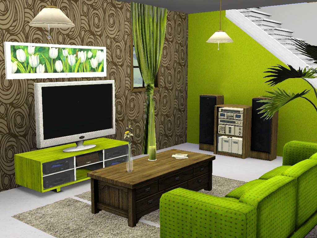 Mod the sims ios greek house for Sims 3 living room ideas