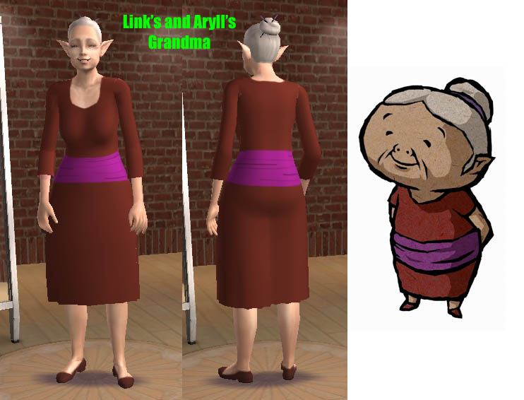 Mod The Sims - Wind Waker Link, Aryll, and Grandma