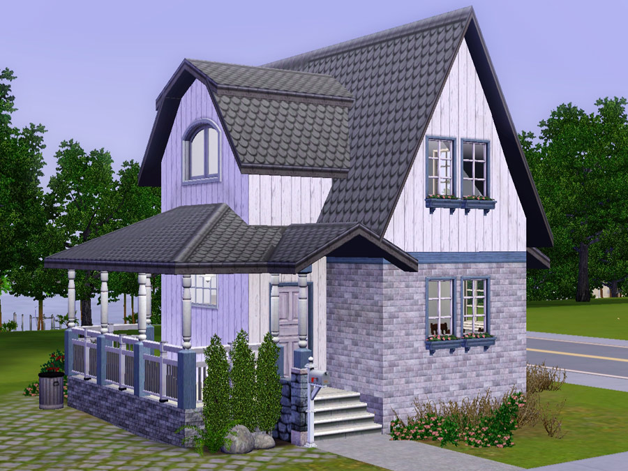Mod the sims wee barnoid 20 small country house for Pictures of small country homes