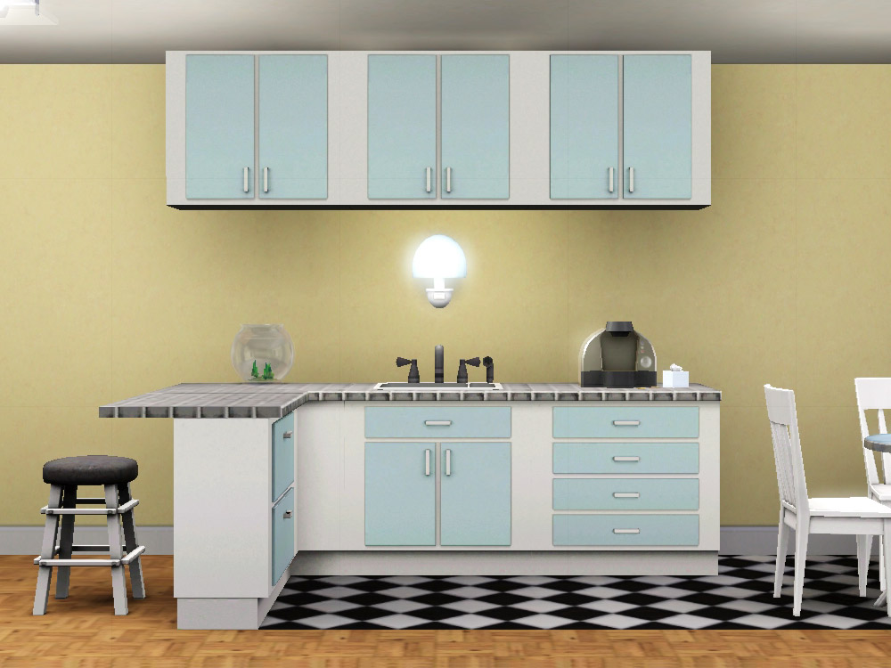 Simple Kitchen mod the sims - simple kitchen – counters, islands, cabinets