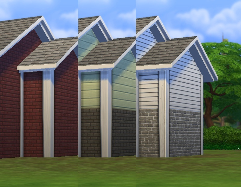 17 Siding Colors With Automatic Corner Edging For Sims 4