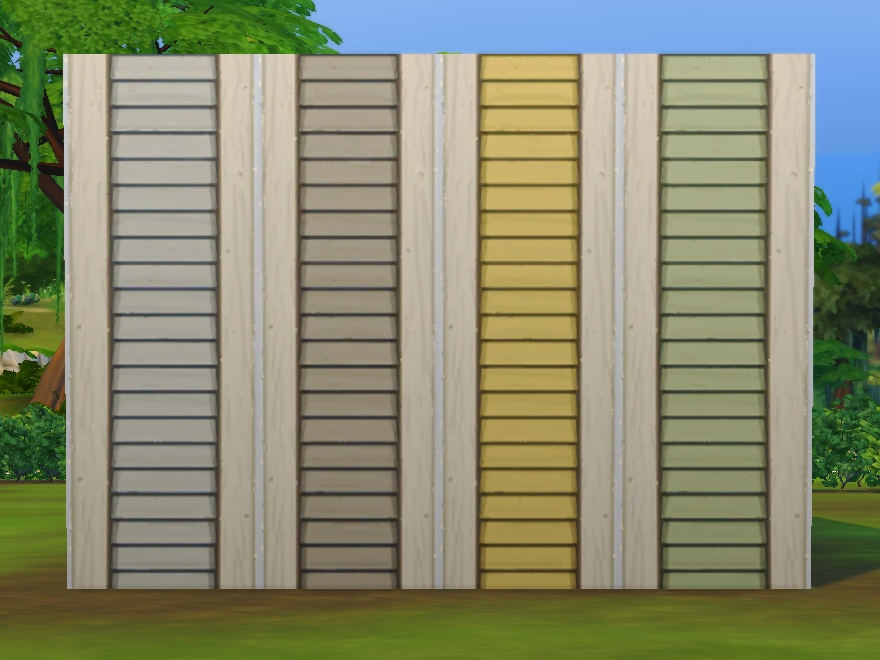 Mod The Sims Simple Siding Add On Extra Colours Overrides