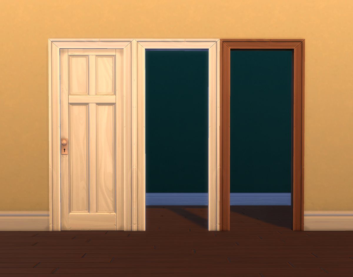 this will pick up all of its textures and also overrides if you have any plus some other stuff from the singlepanel wooden door i think the door frame