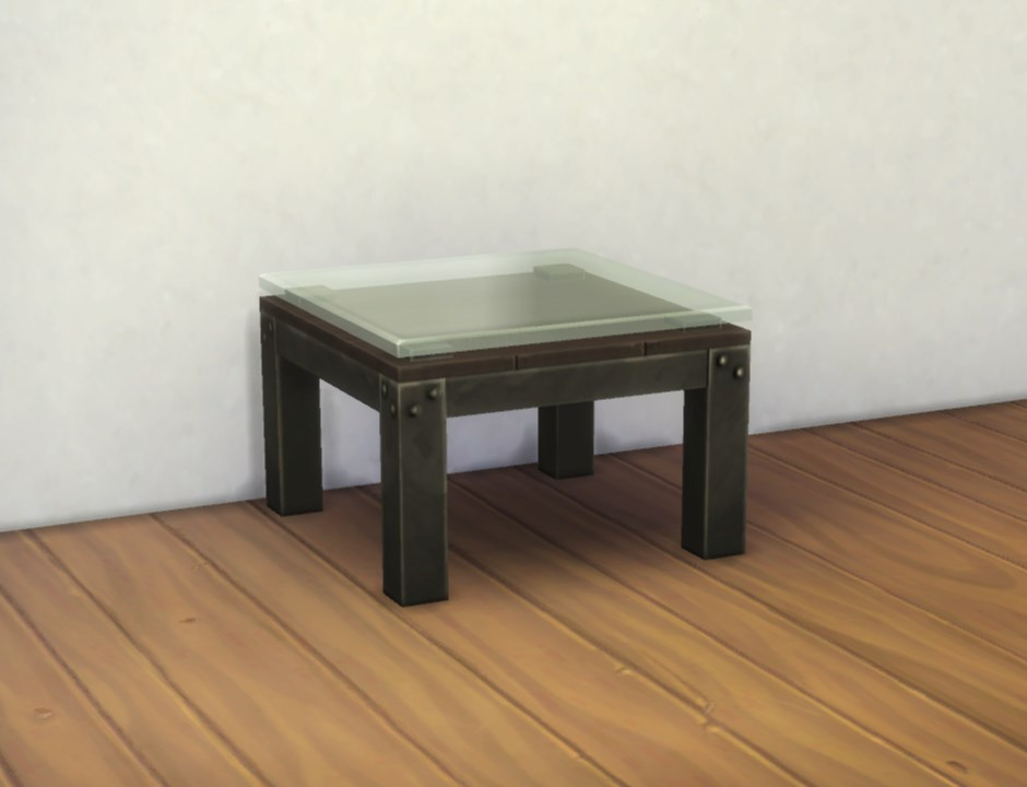 Mod The Sims Small Industrial Coffee Table