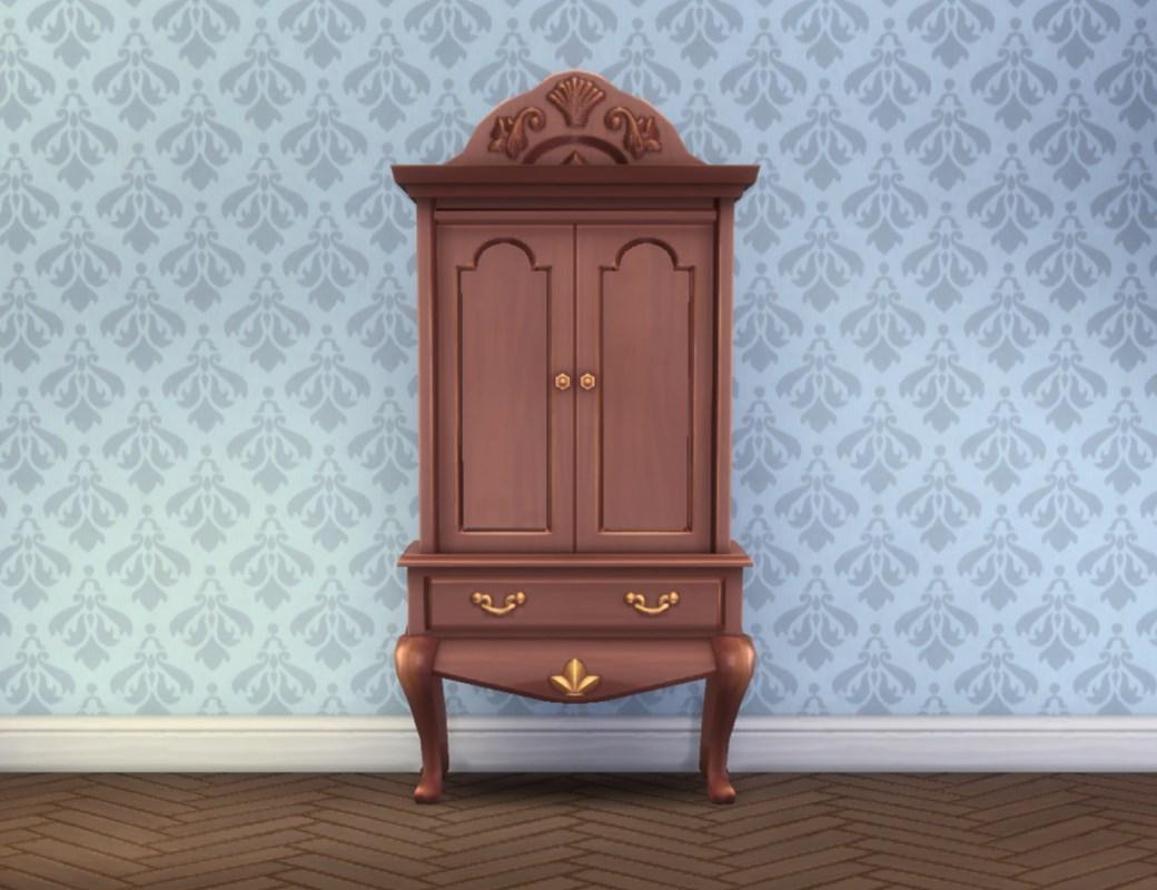 mod the sims sea princess armoire. Black Bedroom Furniture Sets. Home Design Ideas