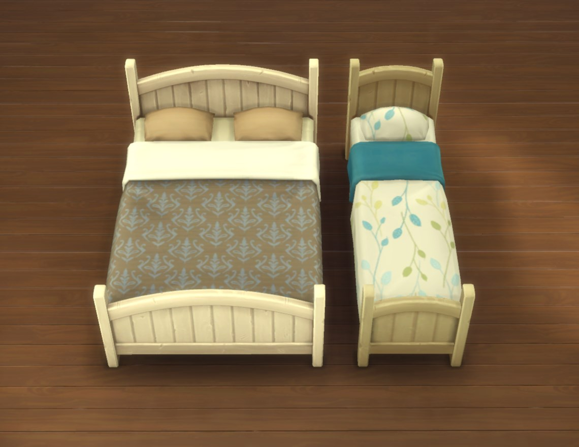 Mod The Sims - Rustic Bed Frames