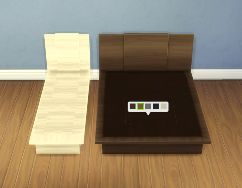 "Mod The Sims - ""Emi""/""Uto"" Bed Frames"