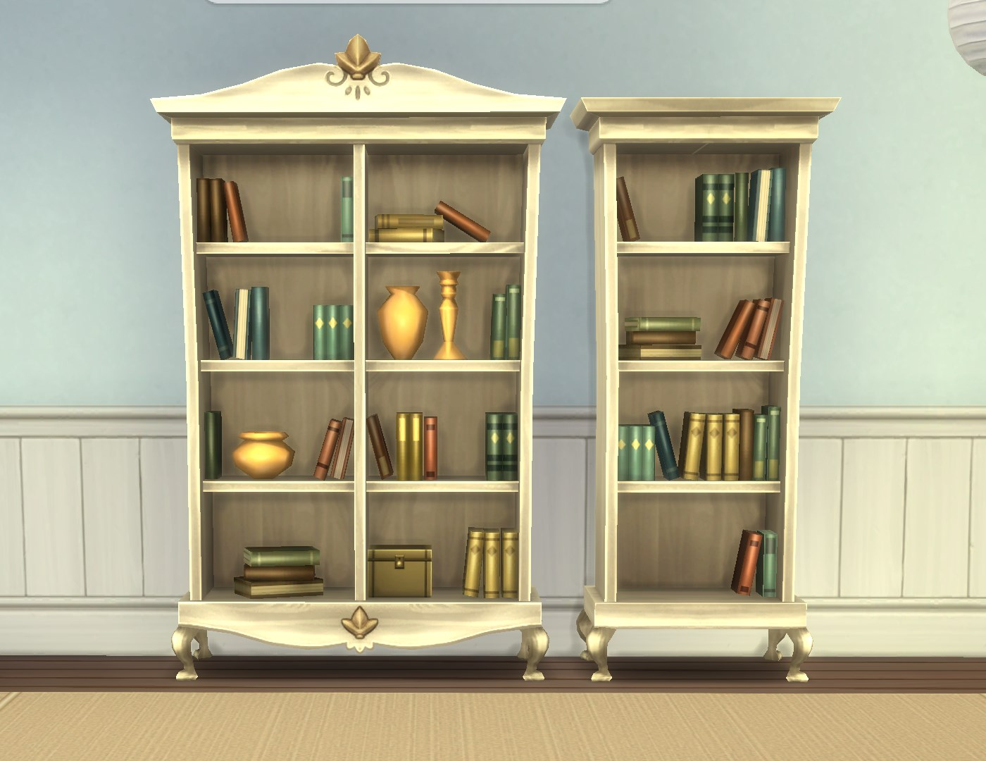 Wonderful image of Mod The Sims Single Tile Cordelia Bookcases with #966D35 color and 1400x1080 pixels