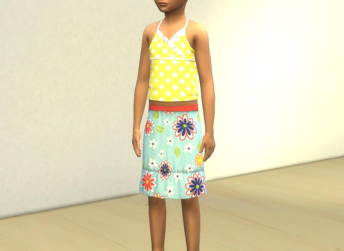 mod the sims knee length summer skirts