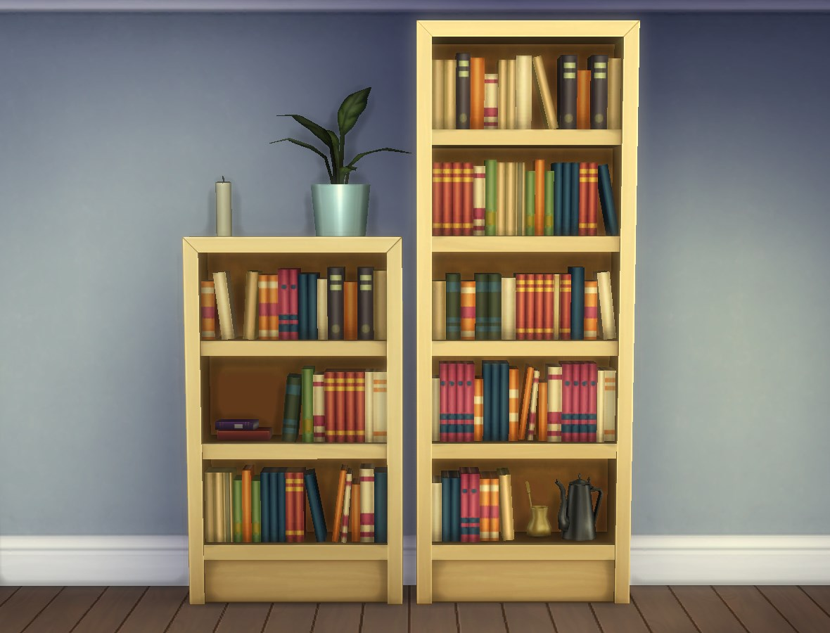 """Wonderful image of Mod The Sims Single Tile """"Intellect"""" Bookcases with #A48327 color and 1180x900 pixels"""
